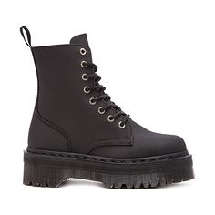 Dr. Martens Jadon 8-Eye Boot Shoes (225 CAD) ❤ liked on Polyvore featuring shoes, boots, ankle booties, ankle boots, short boots, laced ankle boots, lace up booties and platform bootie