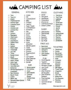 Free to print: The ultimate car camping checklist -  Free to print: The ultimate car camping checklist  - #camping #CampingChecklist #CampingHacks #CampingProducts #CampingTips #Car #checklist #FamilyCamping #Free #print #RvCamping #ultimate #VintageTravelTrailers