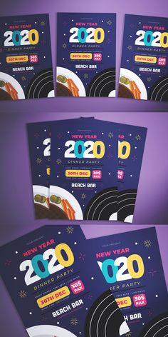 New Years Dinner, File Organization, Beach Bars, New Year 2020, Party Flyer, Design Your Own, Presents, Fancy, Gifts