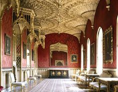 Strawberry Hill, a Gothic Revival villa in Twickenham, London ~ built by Horace Walpole (beginning in of four pins] Revival Architecture, Gothic Architecture, Architecture Details, London Architecture, Strawberry Hill House, I Origins, Die Renaissance, Gate House, Grand Homes