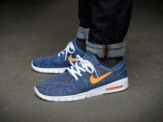 Nike SB Stefan Janoski Max Blue Orange, купить обувь Найк в Киеве: цена, фото - Интернет-магазин «Обувка»