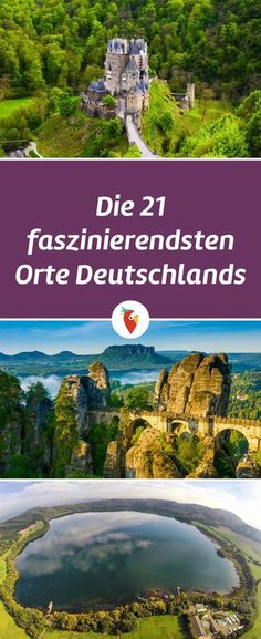 Holidays in Germany: favorable offers & travel tips- Urlaub in Deutschland: günstige Angebote & Reisetipps Here are the 21 TOP natural wonders of Germany. So look up and be inspired! Places To Travel, Places To See, Travel Destinations, Trailers Camping, Lago Tahoe, Travel Tags, Les Religions, Reisen In Europa, Voyage Europe