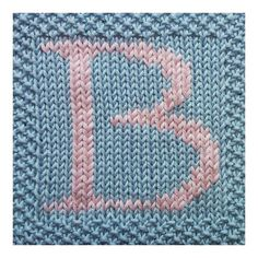 PDF Knitting pattern capital letter B afghan / by FionaKelly, $2.00