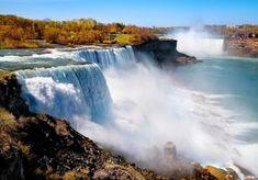 New travel destinations canada ontario natural wonders ideas Niagara Falls Hotels, Visiting Niagara Falls, Tokyo Skytree, Monte Everest, Largest Waterfall, Les Cascades, Beautiful Waterfalls, Natural Wonders, Cool Places To Visit