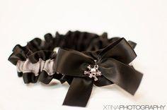 Bridal Garter Rockabilly Black & Gray Silver by BellaDivaCouture, $9.00
