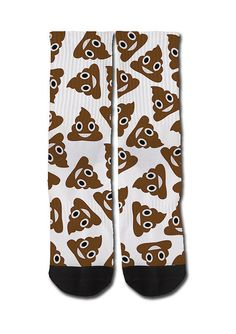 poop emoji socks!!!! SERIOUSLY I NEED THESE...it mixes my two loves; socks and poop!