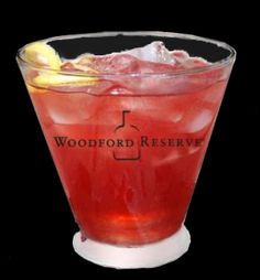 Bourbon Drinks & Recipes  WOODFORD JEWEL 1½ oz Woodford Reserve 2 oz fresh lemonade 1 oz pomegranate juice Shake all ingredients with ice and pour into a tall glass. Garnish with a lemon twist.