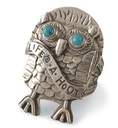 little hoot owl + turquoise = 2 of my favorite things.  Life's A Hoot Ring