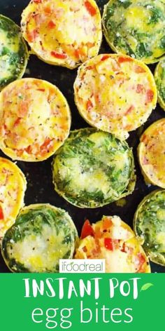These Instant Pot Egg Bites make healthy breakfast on-the-go easy. They are copycat Starbucks sous vide egg bites with one main ingredient. Be ready to be blown away! You can make this Instant Pot egg bites recipe plain or add veggies and cheese. So good either way!