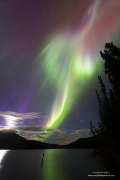 Auroral burst taken September 19, 2014 near Whitehorse, Yukon, Canada