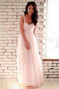 An Enchanted Evening Gown in Rose Quartz