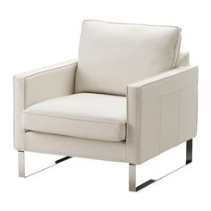 MELLBY Chair - Grann white - IKEA This is not pure white but doesn't match the light beige of the sofa either...