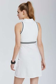 aa9e6378 Lacoste Vintage Tennis Ball Polo Dress. kinda want this. the pattern is  little tennis balls. hard to see from far away but up close i… | Tennis  Dresses ...