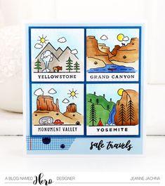 A Kept Life: Hero Arts Summer Catalog Blog Hop! #heroarts #travel #summer #nationalparks #yellowstone, #yosemite, #monumentvalley, #grandcanyon #card #cardmaking #papercrafting #diycards