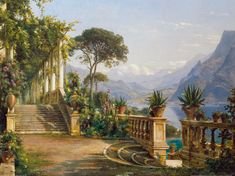 Carl Frederic Aagaard (1833-1895): Lodge on Lake Como
