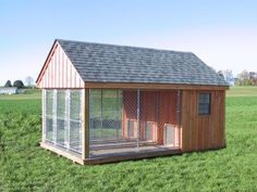 K-9-PA-DUTCH-BUILT-DOG-KENNEL-OUTDOOR-RUN-FENCE-HOUSE-AMISH-CUSTOM-HANDMADE-SHED