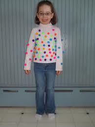 sophia 100th day of school shirt idea- pom poms