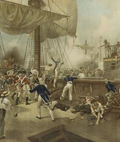 Nelson at Cape St Vincent February 14th, 1797. 'All hands to board' roared Nelson... - National Maritime Museum