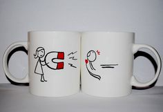 Valentine mugs by SkodeliceTina on Etsy