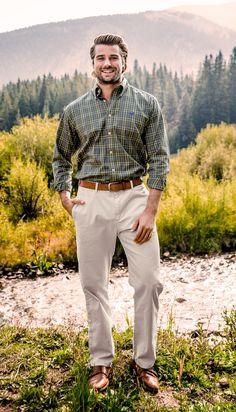 Look sharp & put together in the King Windowpane Dress Shirt.