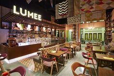 Lumee is a new exciting fast-casual grill restaurant, designed by I-AM. Our work had a focus on name generation, interior design and brand identity. Fast Casual Restaurant, Grill Restaurant, Restaurant Design, Design Agency, Branding Design, Bar Design Awards, Interior And Exterior, Interior Design, Retail Shop