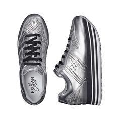Unmistakable details, magnetic allure. The #HOGAN #H222 Maxi Platform #sneakers in metallic leather  Join the #HoganClub #lifestyle and share with us your @hoganbrand pictures on Instagram