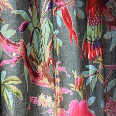 Eclectic Curtains, Boho Curtains, Tropical Curtains, Panel Curtains, Curtain Panels, Curtain Designs, Cushion Covers, Hanging Fabric, Boho Decor