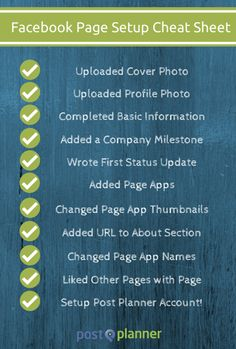 The Ultimate Cheat Sheet for Jump-Starting a New Facebook Page | #facebook #howto