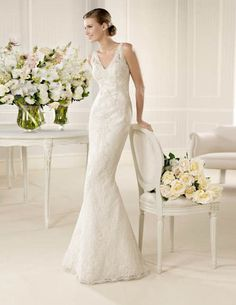 Designer wedding dress rentals in Utah for a fraction of the cost. Schedule an appointment to come see the La Sposa Mufa wedding gown! La Sposa Wedding Dresses, Rental Wedding Dresses, Wedding Dress 2013, Lace Wedding Dress, Wedding Dress Styles, Designer Wedding Dresses, Bridal Dresses, Bridesmaid Dresses, Dress Rental