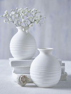 Mini White Round Vase - Nordic House