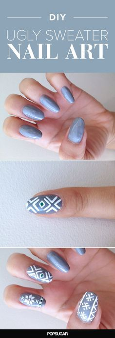 This Ugly-Sweater Nail Art Is Actually Supercute
