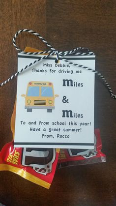 End of year bus driver gift
