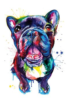 Black Frenchie by Weekday Best is printed with premium inks for brilliant color and then hand-stretched over museum quality stretcher bars. 60-Day Money Back Guarantee AND Free Return Shipping.