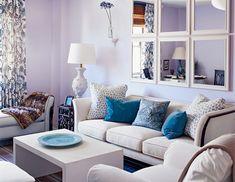 lavender living room walls and trim. katie ridder | paint it