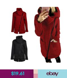 510a70643  8.88 - Child Kids Girl Winter Woolen Hooded Long Coat Thick Warm ...
