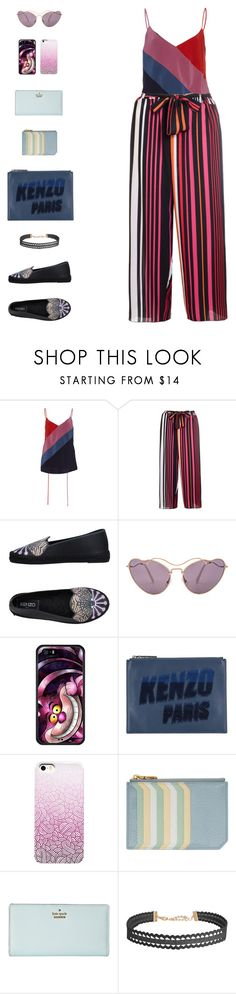 """Cheshire Cat I"" by sol4nge ❤ liked on Polyvore featuring Prabal Gurung, Kenzo, Miu Miu, Kate Spade, Humble Chic and aliceinwonderland"