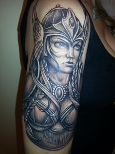 78ed8a489241c Pin Valkyries Female Warriors Valkyrie Brunhild Sleeve Ideas Black Ink ...  Cover Up Tattoos