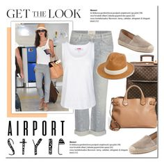 """""""Get the Look: Airport Style"""" by cruzeirodotejo ❤ liked on Polyvore featuring rag & bone, Louis Vuitton, Current/Elliott, adidas, Burberry, GetTheLook and airportstyle"""