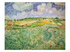 The Plain at Auvers, c.1890 Giclee Print at AllPosters.com