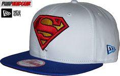 New Era 9Fifty Character White Top Superman Snapback Cap