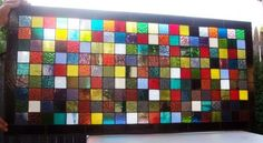 Stained Glass Window Panel Colorful Quilt by TerrazaStainedGlass, $461.00