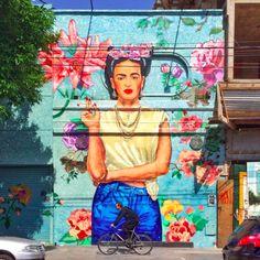 Frida Kahlo #fridakahlo #streetart #buenosaires