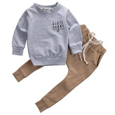 DIGOOD for 0-24 Months,Toddler Baby Boys Letter T-Shirt Tops+Stereo Print Pants,2Pcs Fashion Outfits Clothes Sets