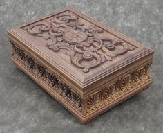 Jewelry Box - carved with ornaments and motifs