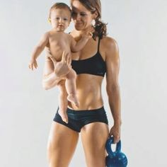 Amanda Williver. She's competing in the Crossfit Open and her son is 10 months old! Inspiration!