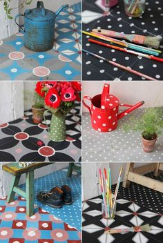 Tiles on pinterest tile terracotta and handmade tiles - Petit pan carreaux ciment ...