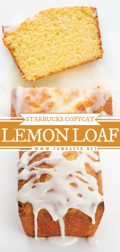 Lemon Loaf is a copycat recipe of Starbucks Iced Lemon Loaf that is made with a lemon cake topped with a lemon glaze. If you are craving a refreshing piece of cake, this is the loaf to make! Save this easy dessert recipe!