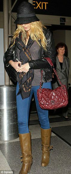 Blake Lively wearing Alexander McQueen Green Unicorn Skull Silk Scarf Diesel L-Sienna Jacket Chanel Coco Cocoon Quilted Large Shopping Bag Chanel Bubble Quilt Flap Bag. Blake Lively Going to London with Ryan November 30 2012.