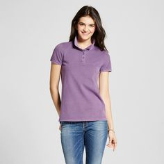 Women's Polo Shirt Purple Xxl - Mossimo Supply Co.