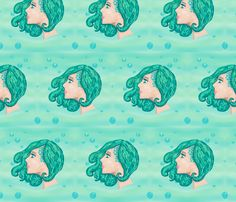Life Under the Sea fabric by majoranthegeek on Spoonflower - custom fabric